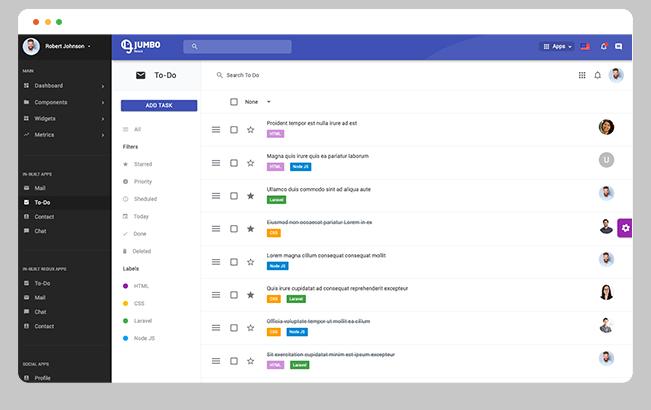 todo app todo task app material design admin dashboard template