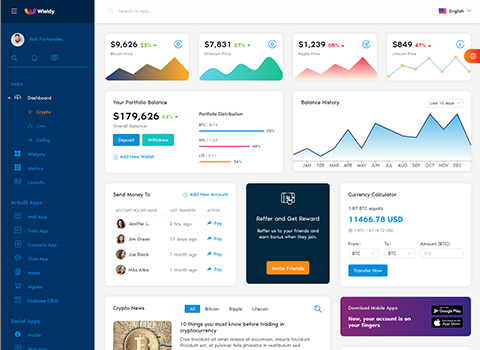 crypto dashboard admin template ant design react admin dashboard template by g-axon